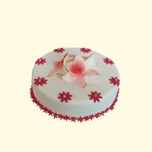 Торта Червени цветя